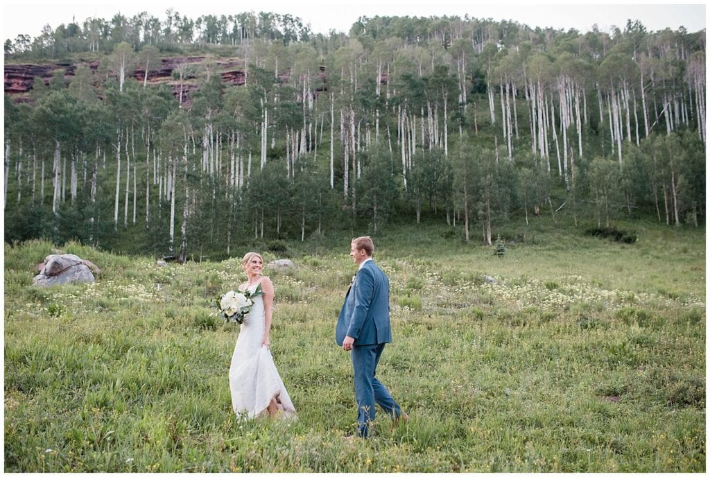 sunset photos in the aspens at Piney River Lake photo