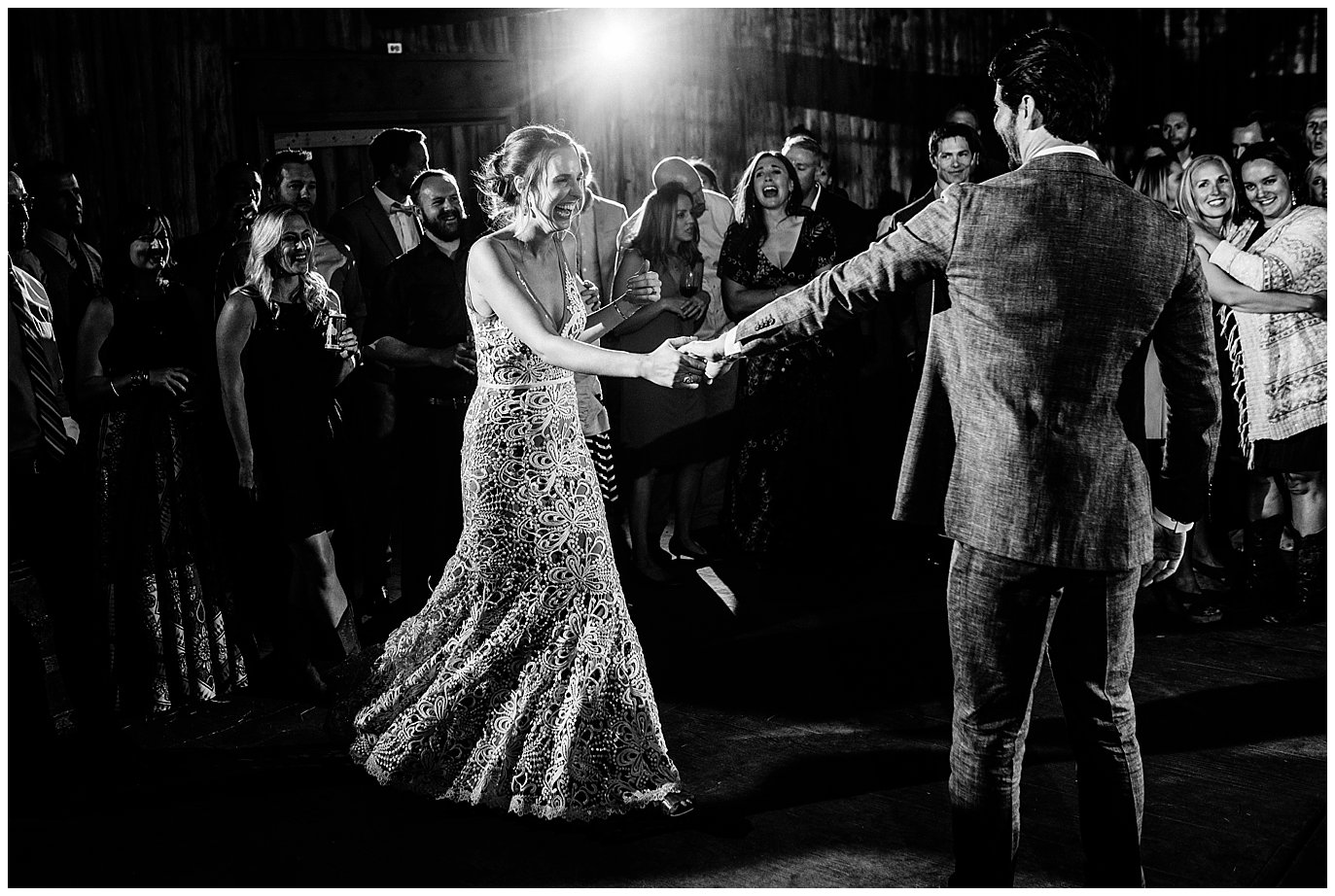 first dance at Winding River Ranch Grand Lake Wedding photo