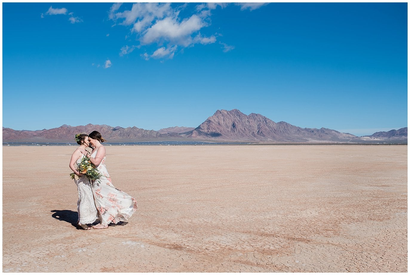 Nevada Dry Lake Bed Elopement photo