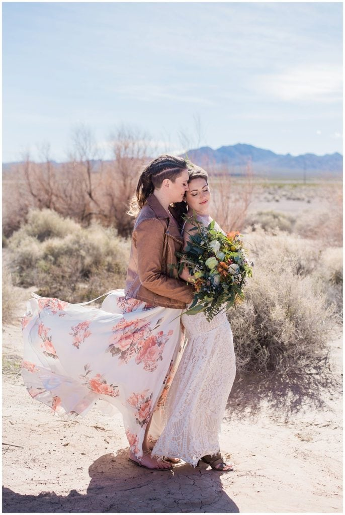 windy dry lake beds nevada elopement photo