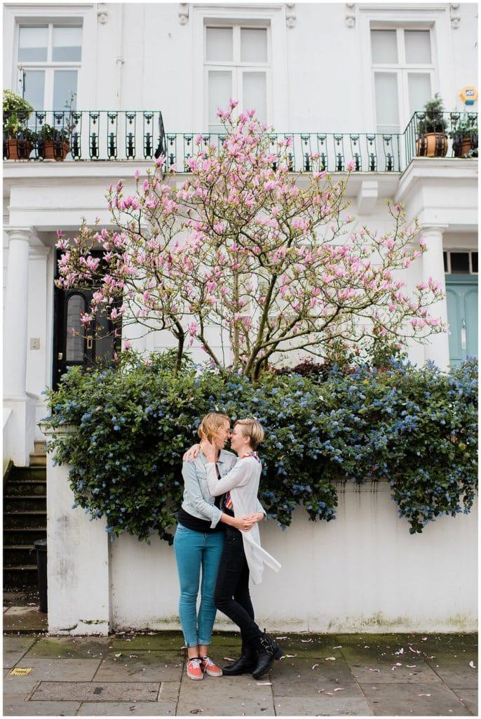 London Spring Engagement photo