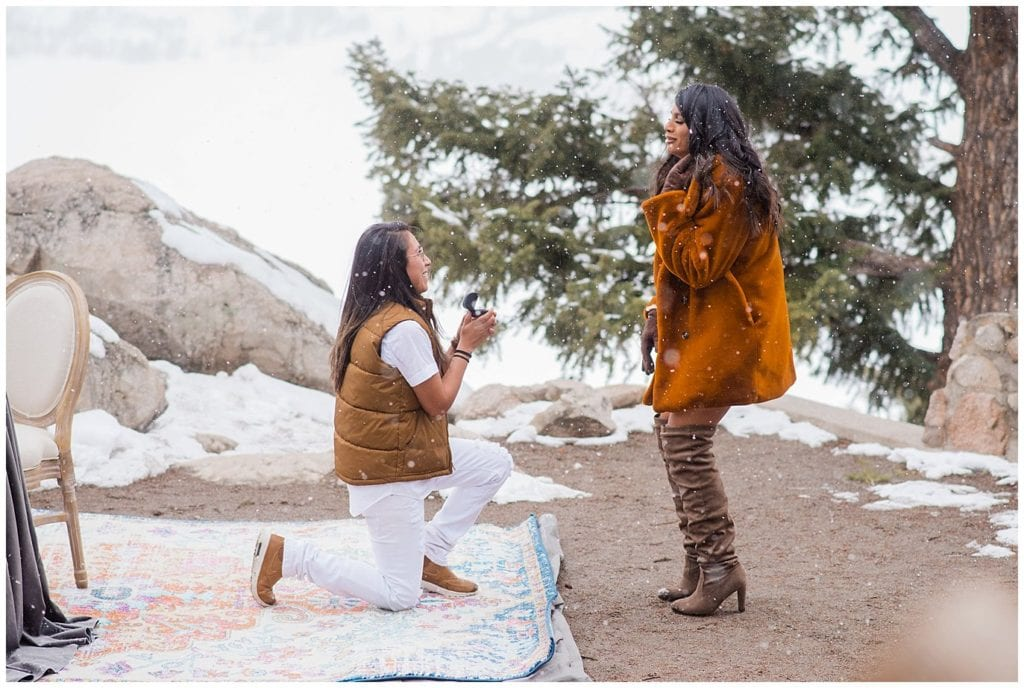 Sapphire Point Overlook proposal by LGBT wedding photographer Jennie Crate