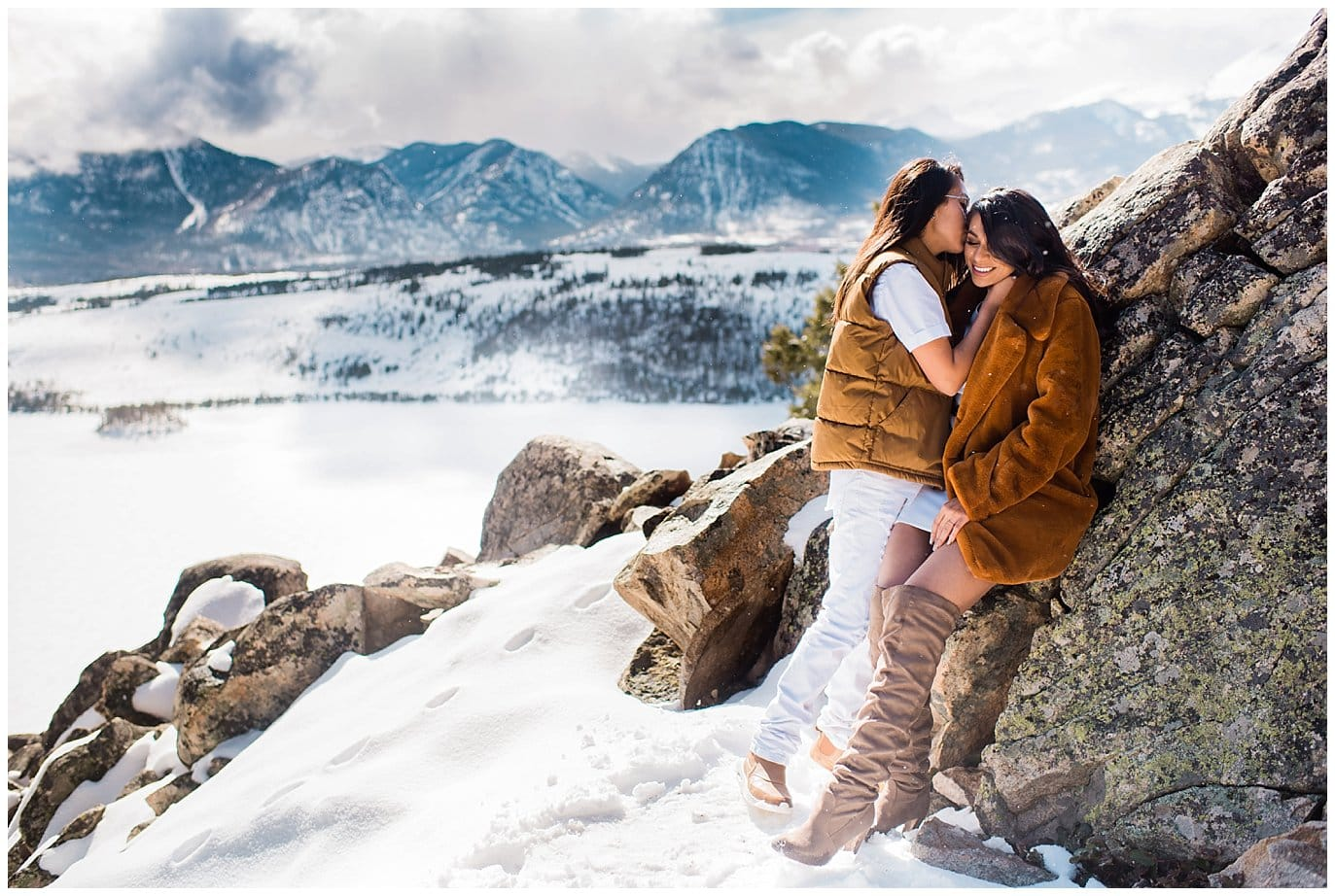 proposal at Sapphire Point Overlook photo