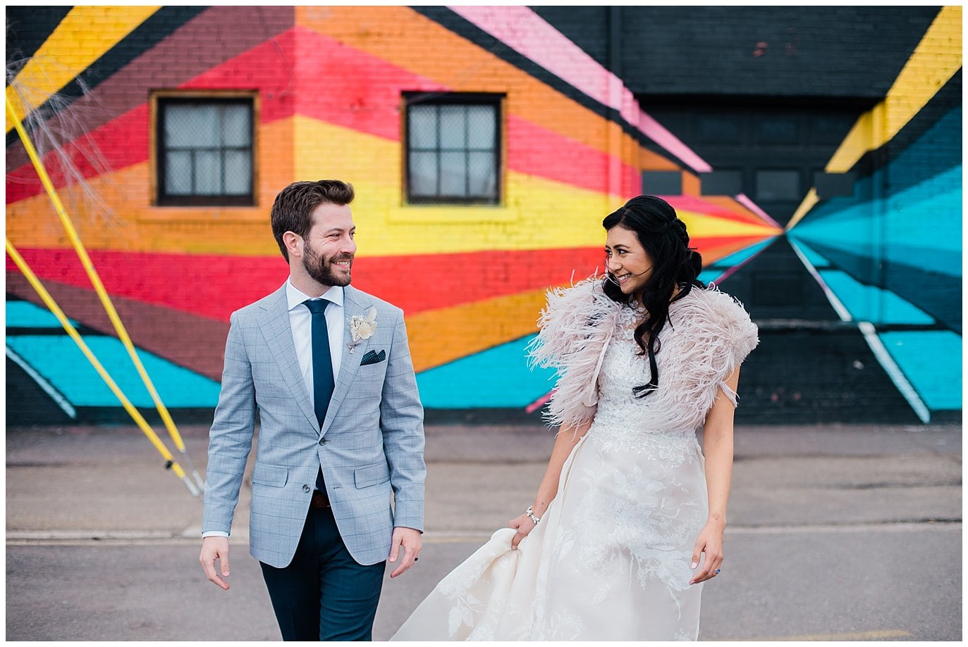 RiNo Art District by Blanc Wedding Photographer Jennie Crate