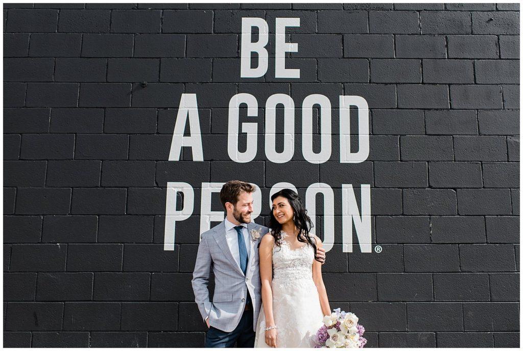 Be A Good Person Denver wedding photo
