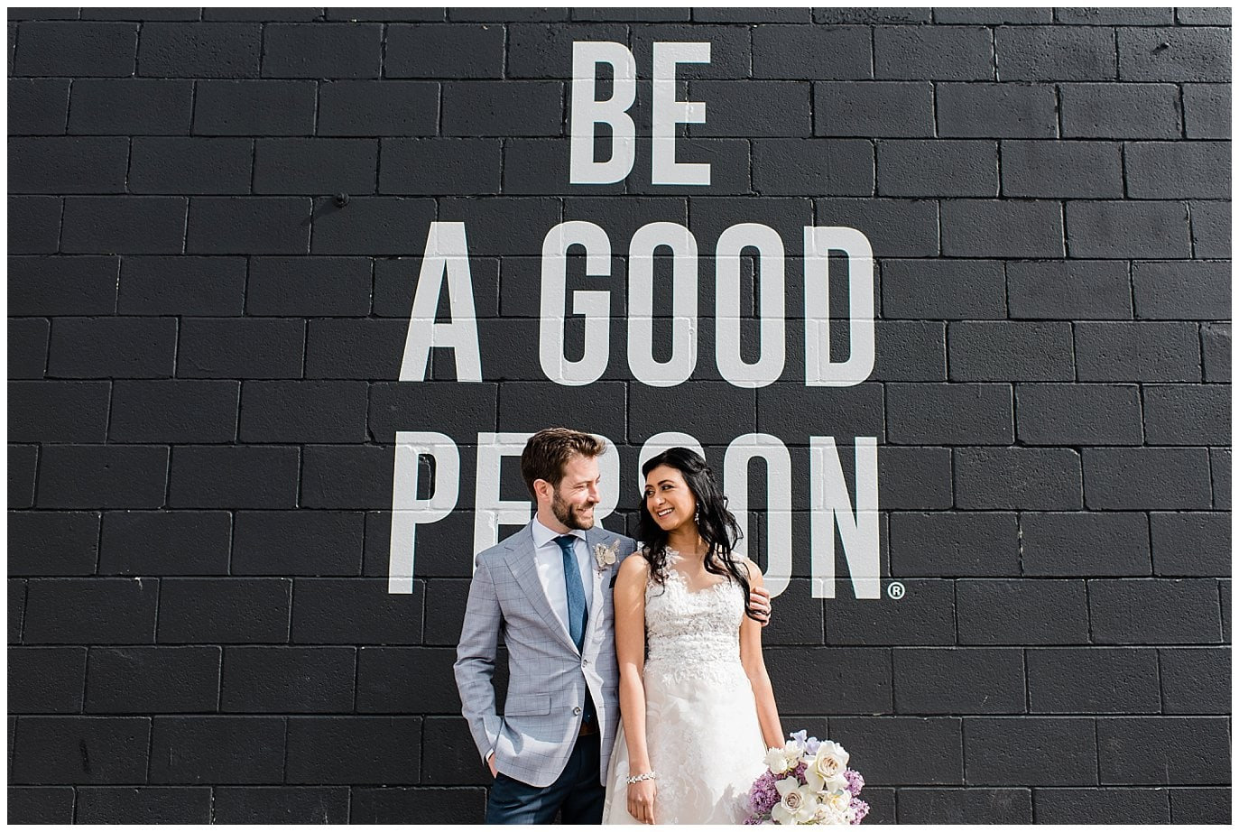 Be A Good Person Denver wedding by Blanc Wedding Photographer Jennie Crate