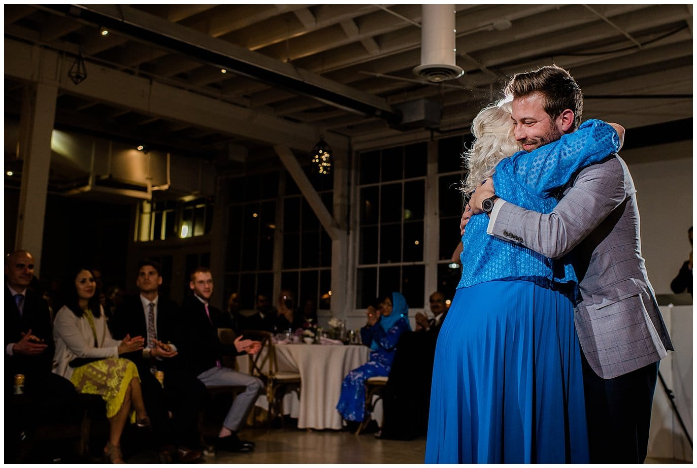 mother son dance at blanc wedding in Denver by Colorado wedding photographer Jennie Crate