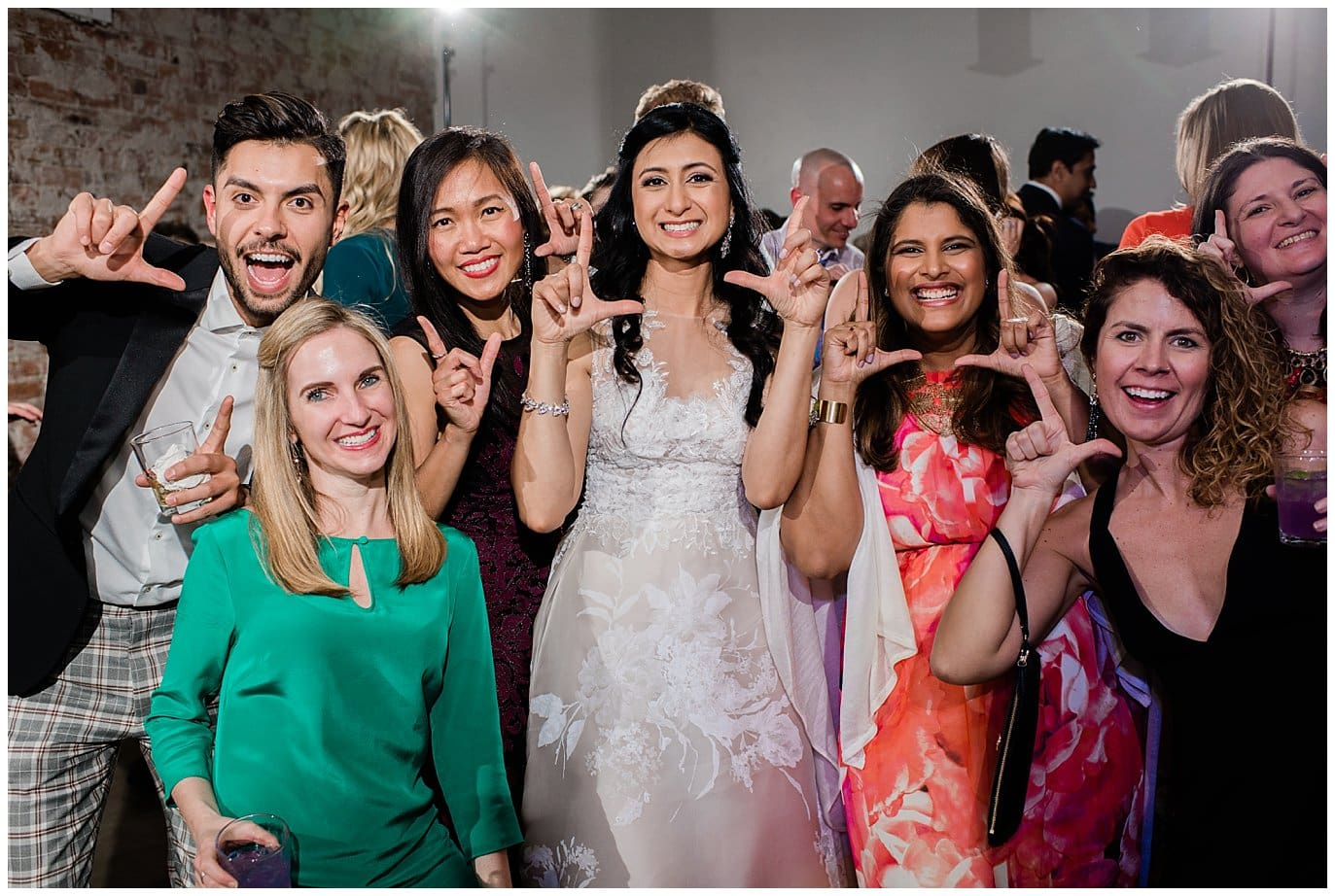 fun wedding reception at blanc wedding by Jennie Crate