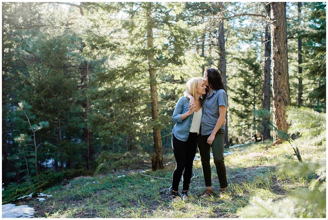 same-sex flagstaff mountain engagement photo