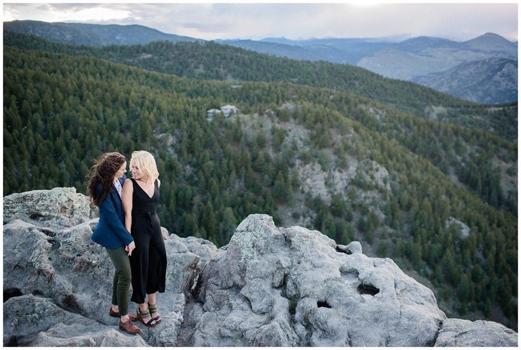 Lost Gulch Overlook sunset engagement by LGBT wedding photographer Jennie Crate