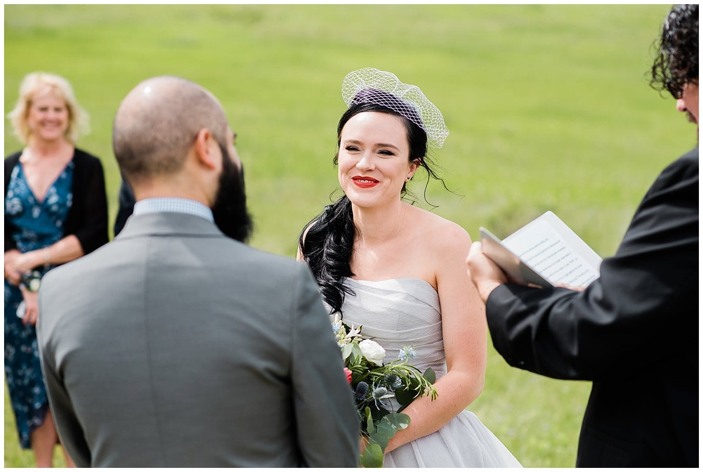 Fort Collins park wedding photo