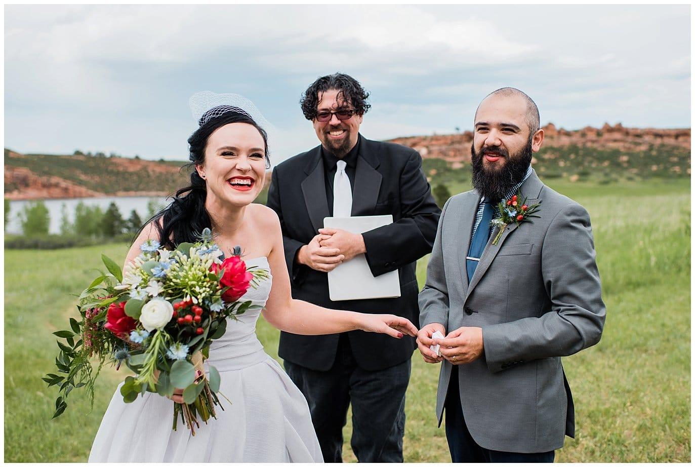 bride and groom outdoor wedding colorado photo