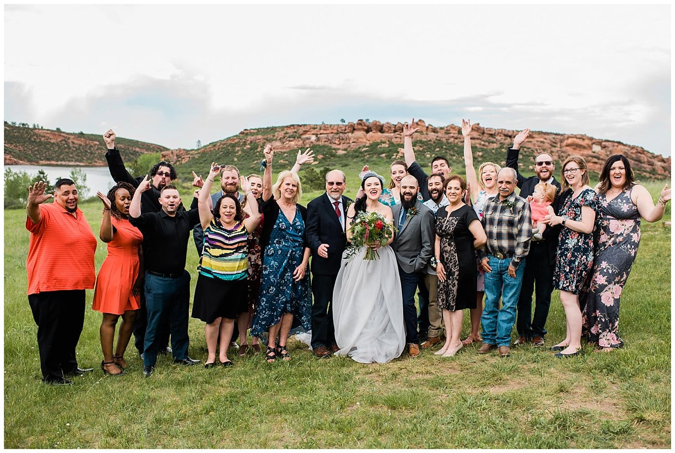 intimate outdoor Fort Collins wedding photo