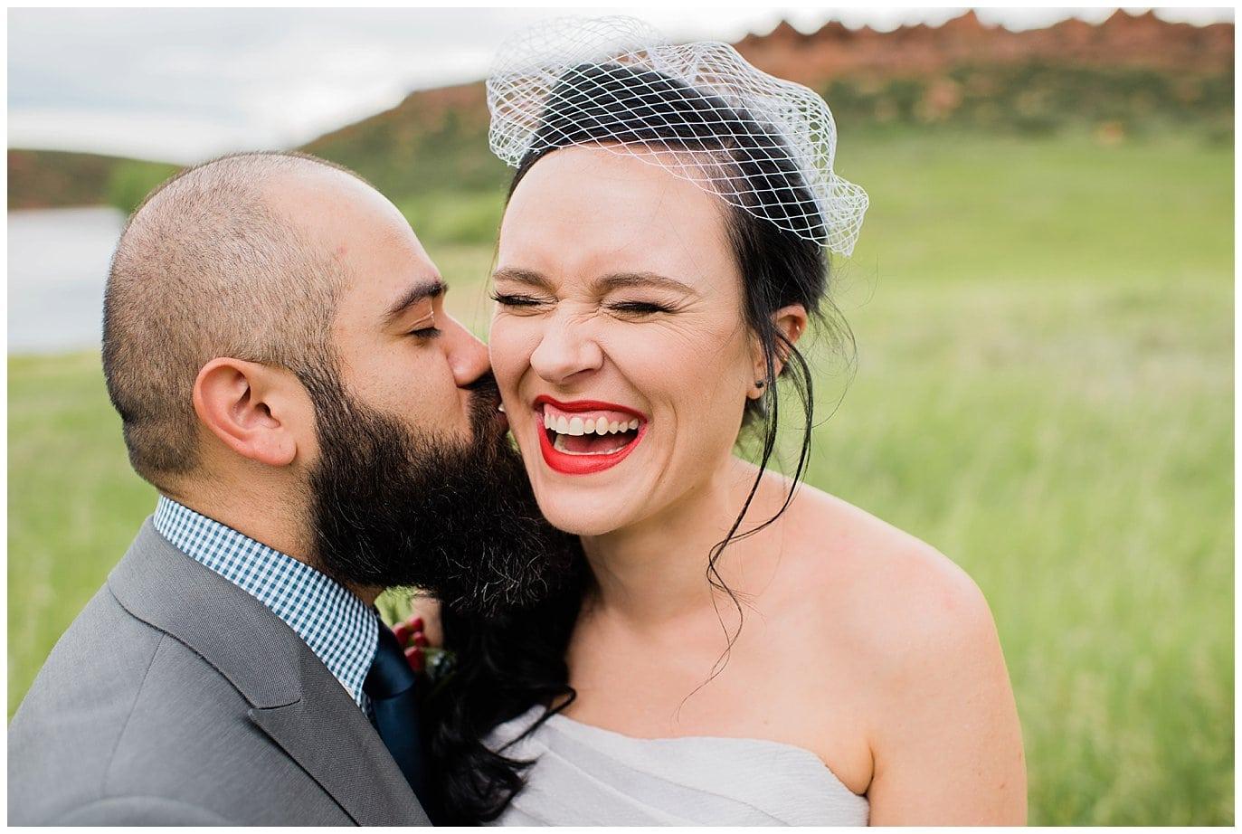 romantic state park wedding photo