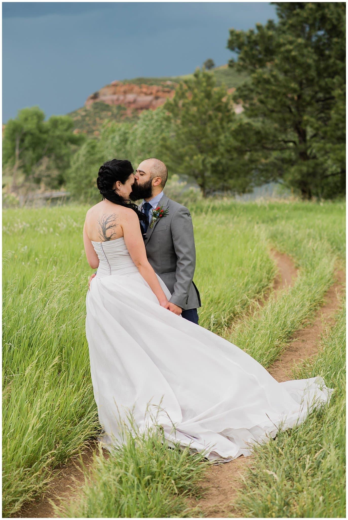 bride with tree tattoo photo