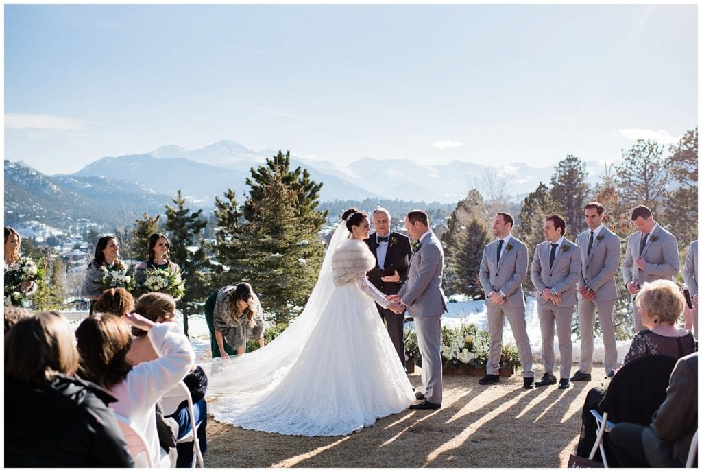 spring wedding at the Stanley Hotel Colorado photo