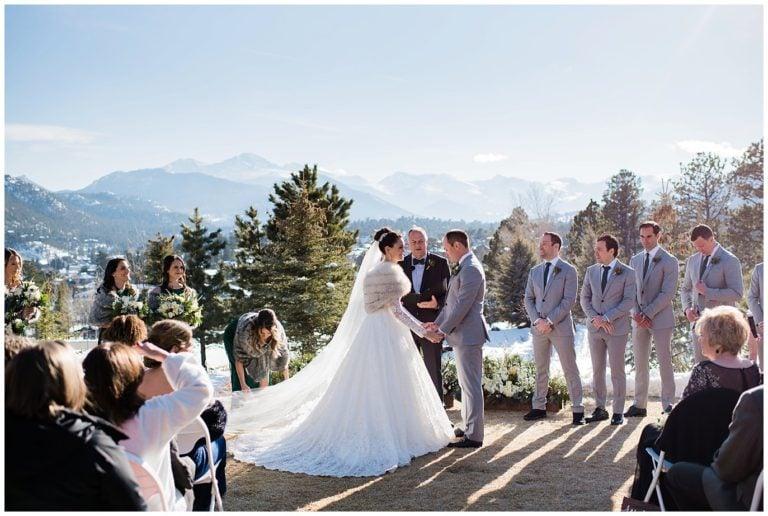 An Outdoor Winter Wedding in Estes Park | B + M