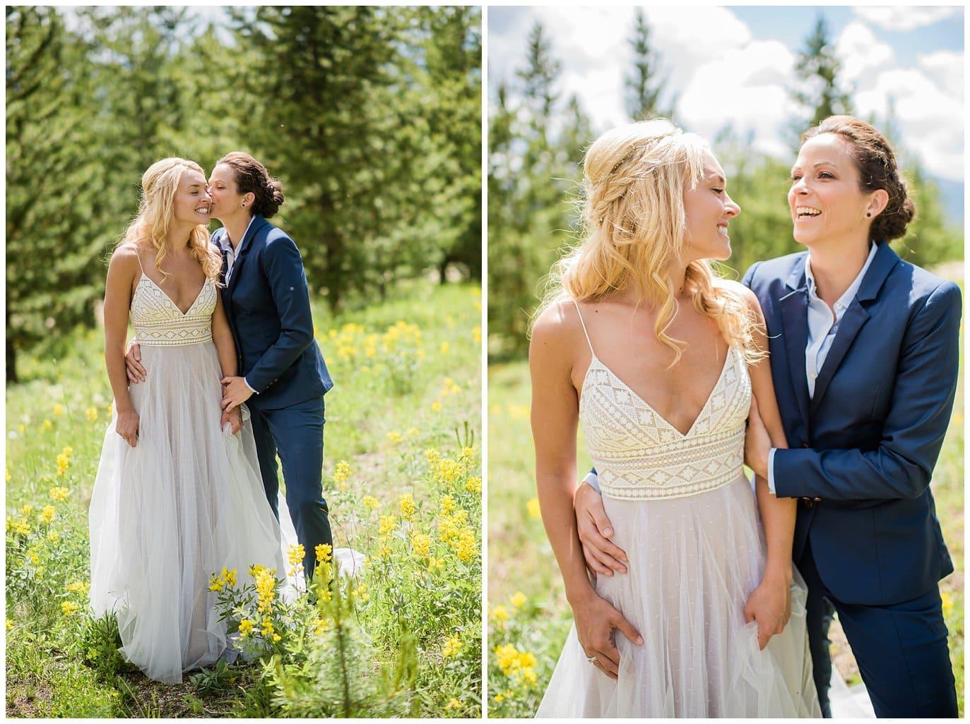 intimate Winter Park same-sex wedding photo