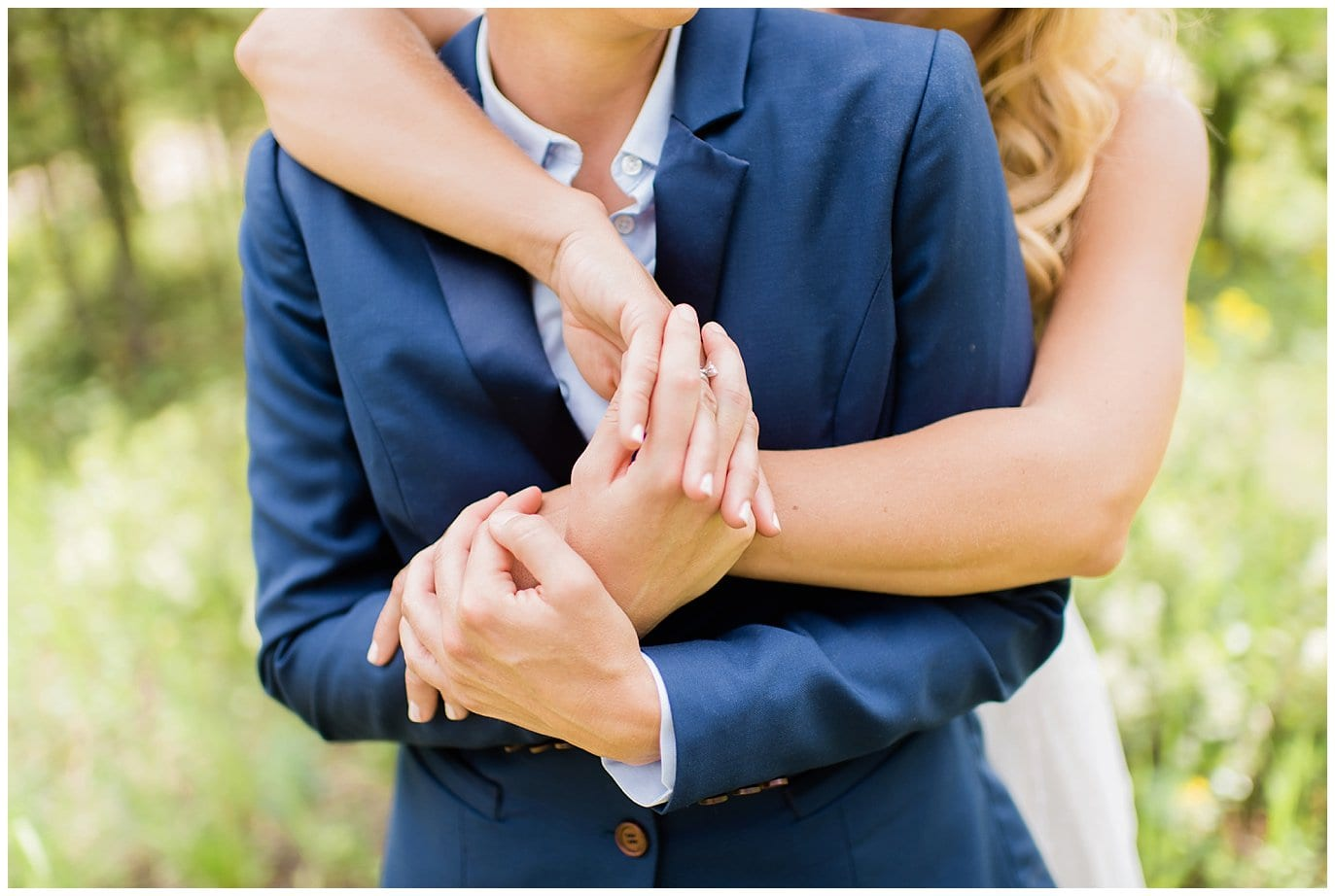 two brides intimate and romantic mountain wedding photo