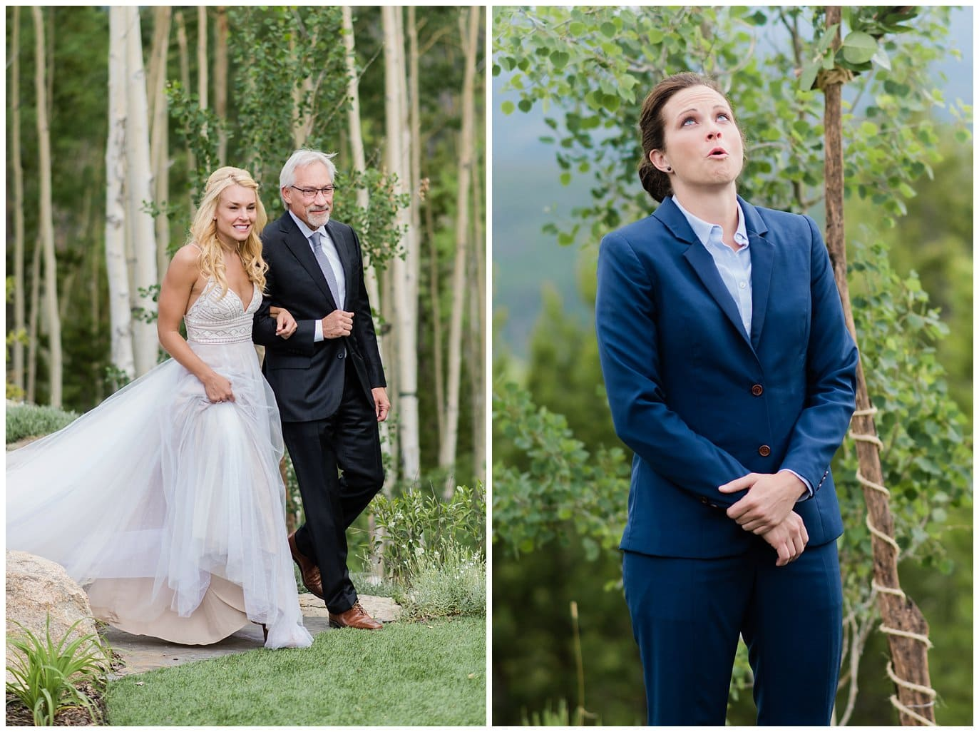 emotional bride at Winter Park wedding photo