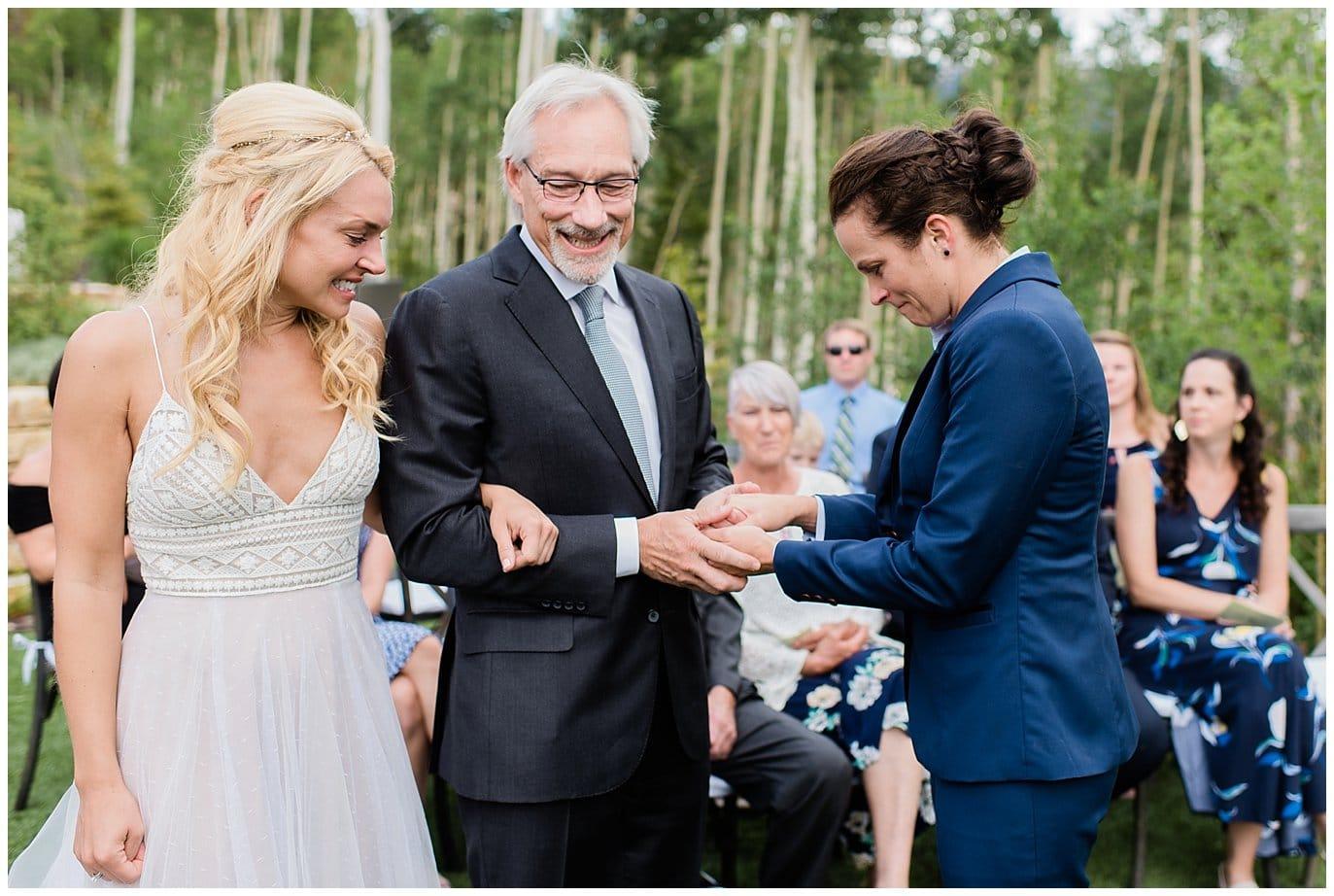 Colorado mountain wedding photo