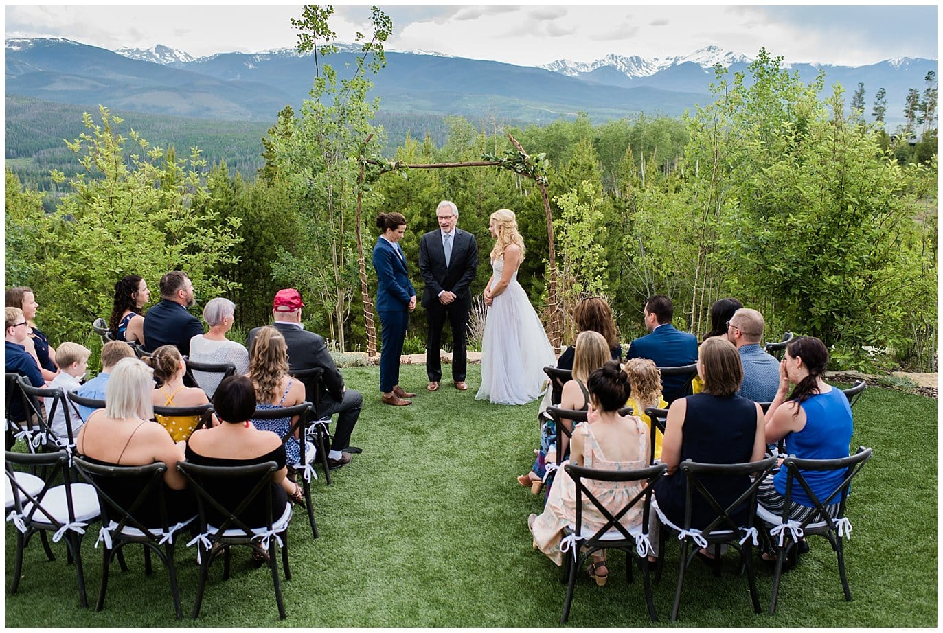 intimate Winter Park wedding photo