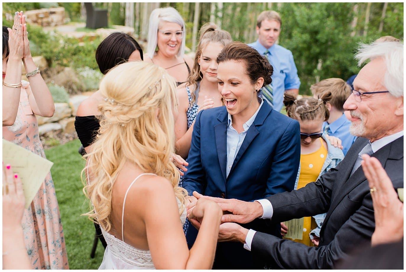 Just married VRBO Winter Park Wedding photo