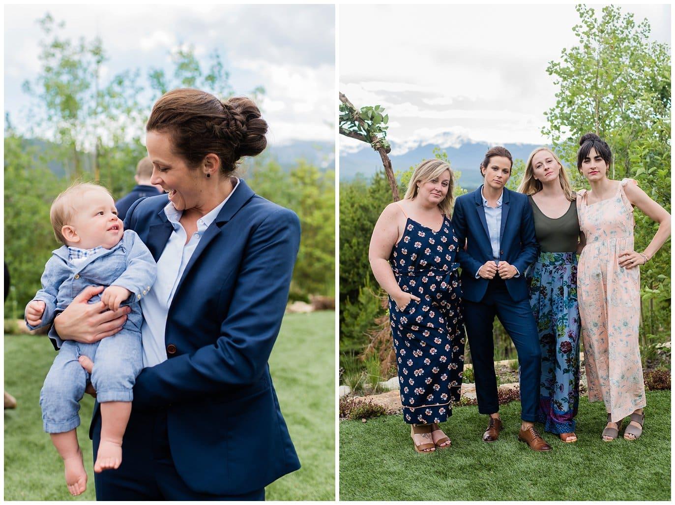friend groups at Colorado wedding photo