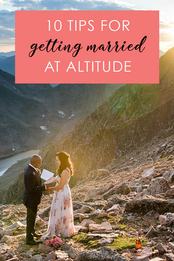 10 tips for getting married at altitude Colorado Wedding Planning Resources by Colorado Wedding photographer Jennie Crate