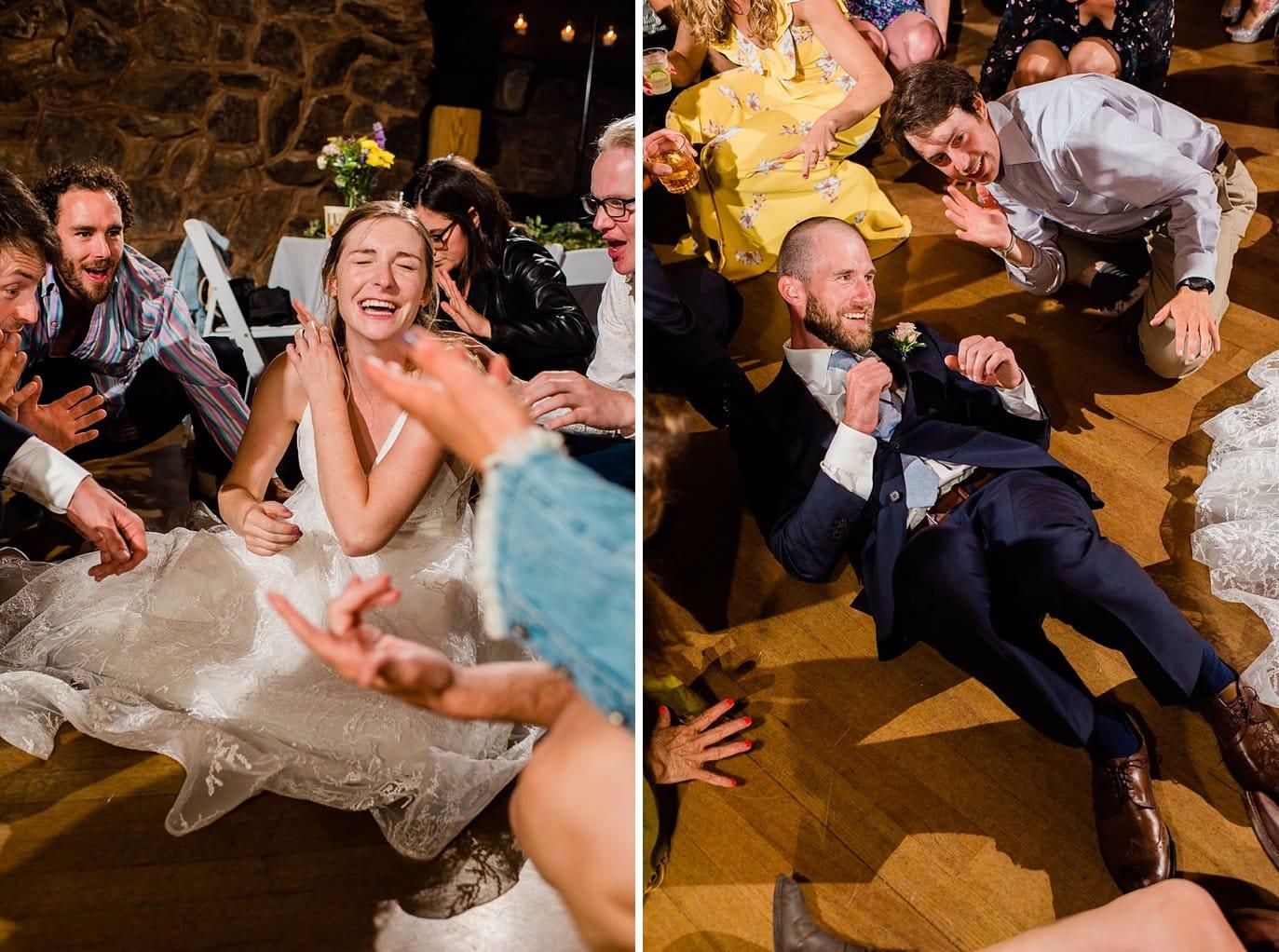dance floor reception Colorado wedding