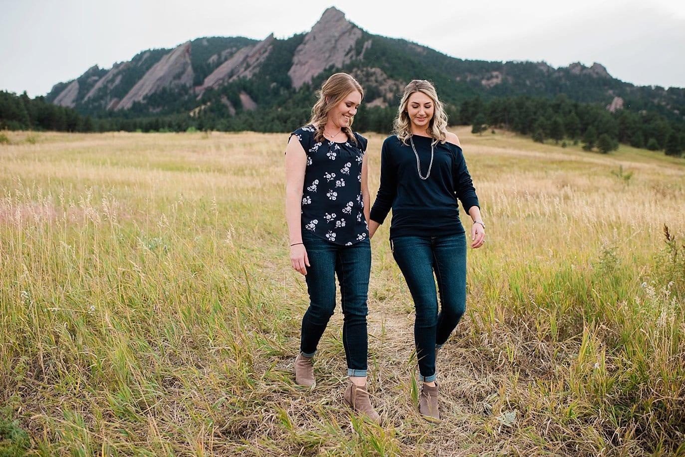 queer couple Chautaqua Park engagement by Boulder engagement photographer Jennie Crate