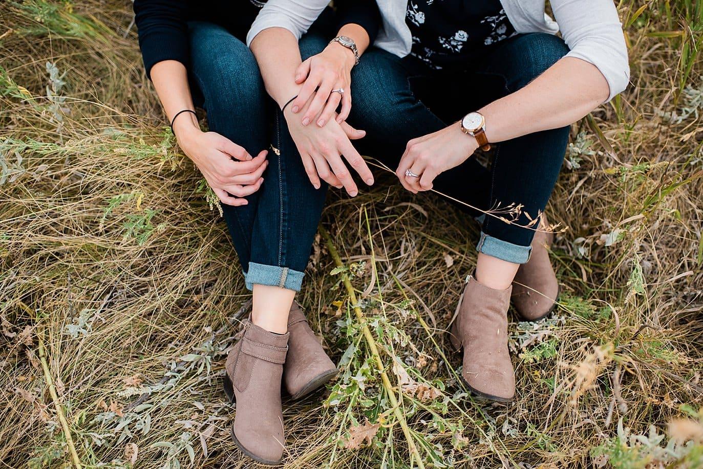 boots and jeans Chautaqua Park engagement by Estes Park engagement photographer Jennie Crate
