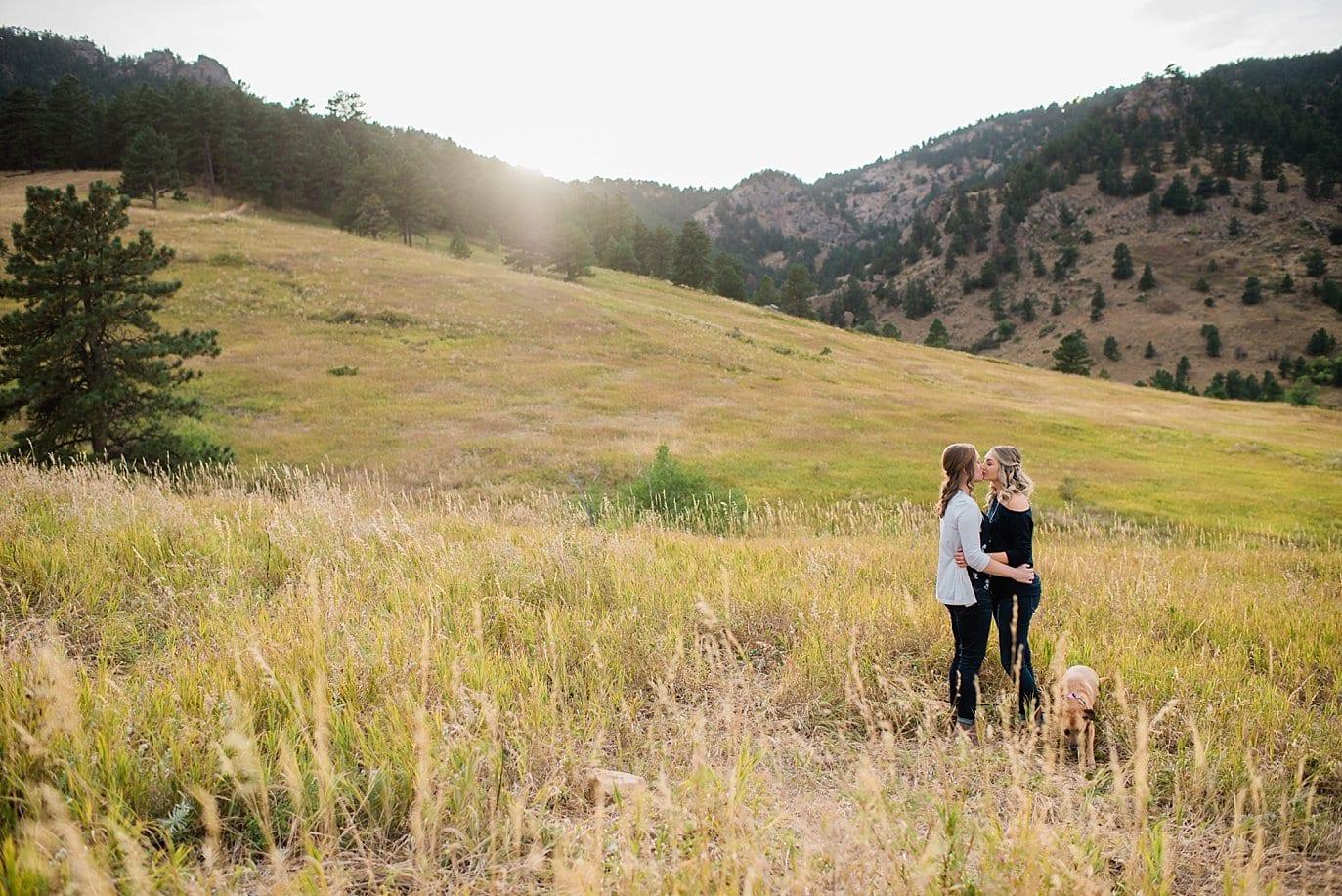 sunset at Chautaqua Park engagement by Boulder engagement photographer Jennie Crate