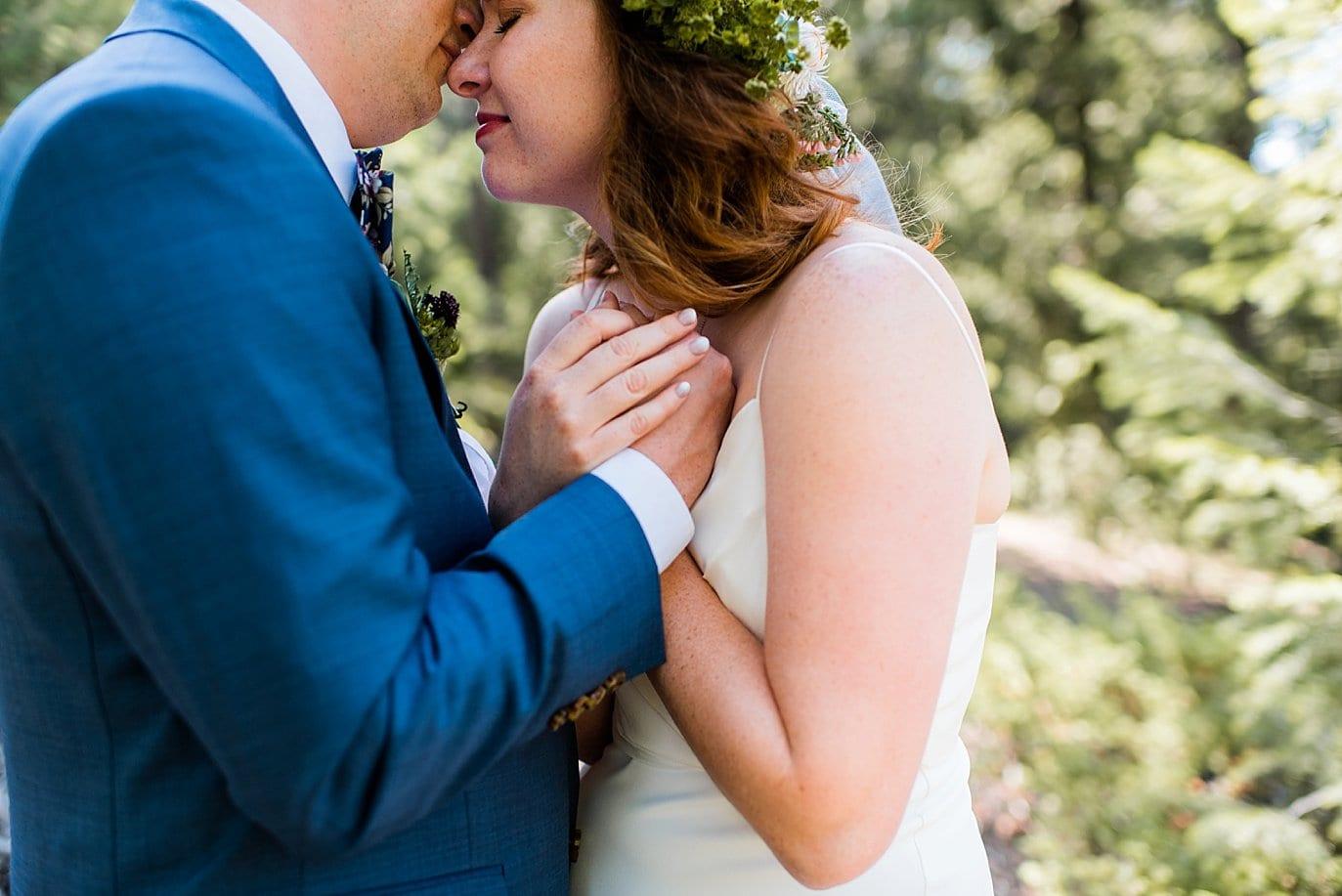 intimate and romantic outdoor Colorado wedding photo