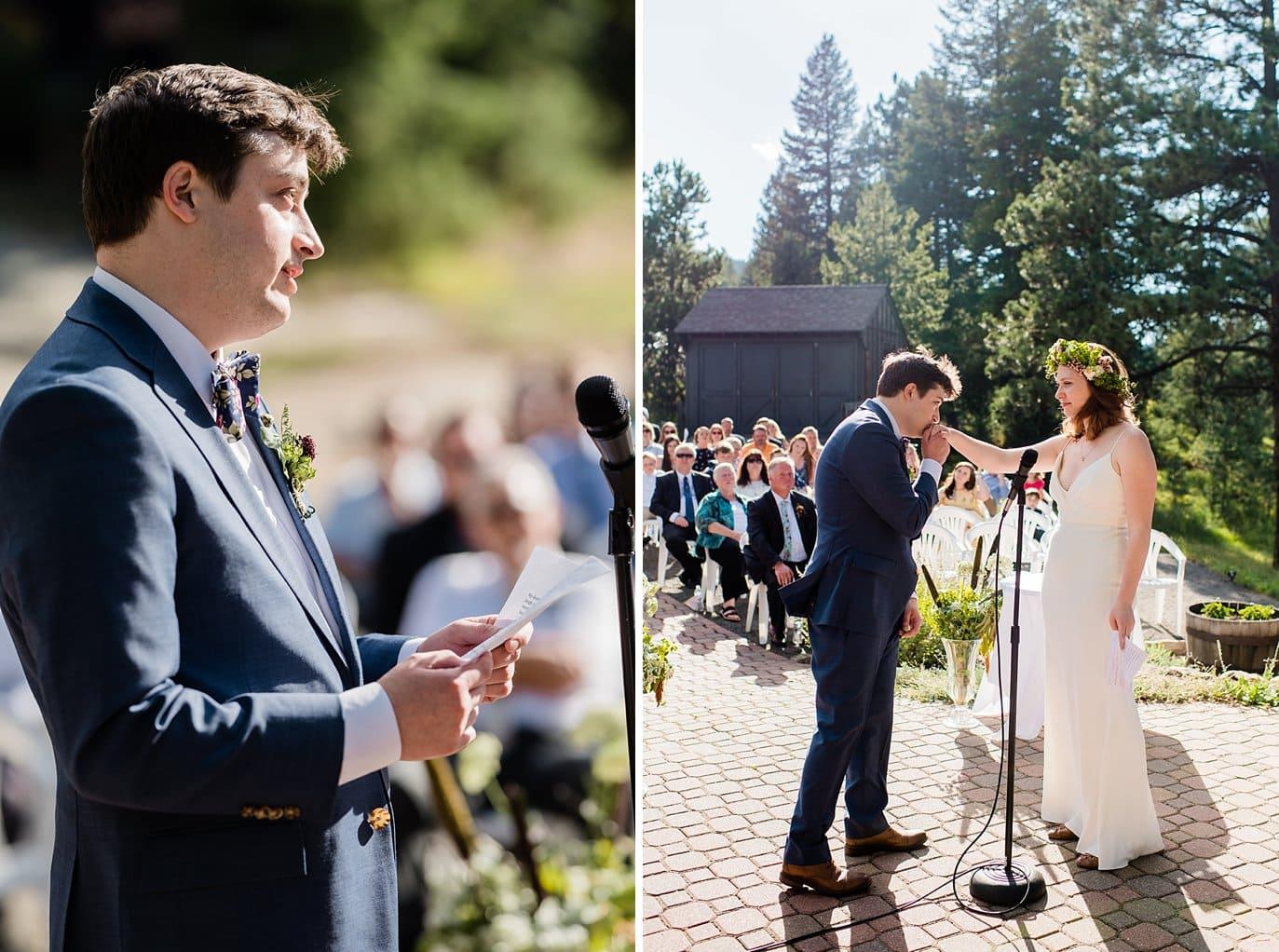 summer Evergreen wedding photo
