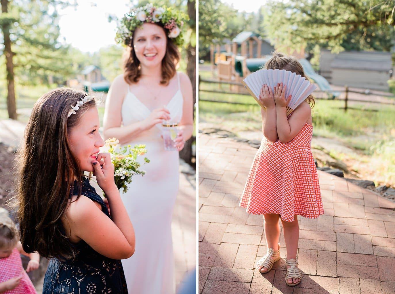 kids at outdoor Colorado wedding photo