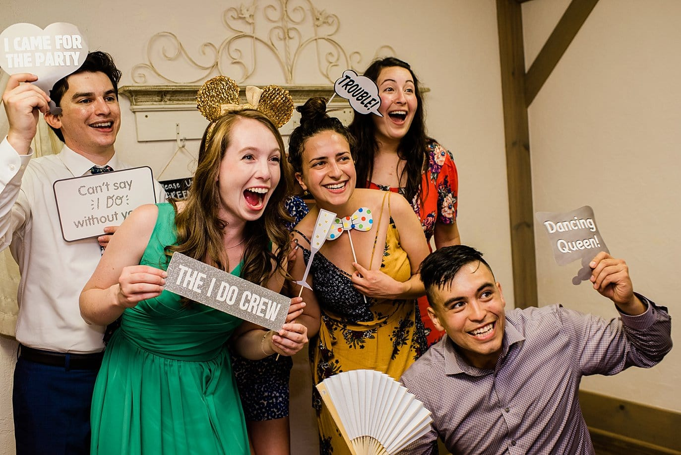 bridal party photo booth photo