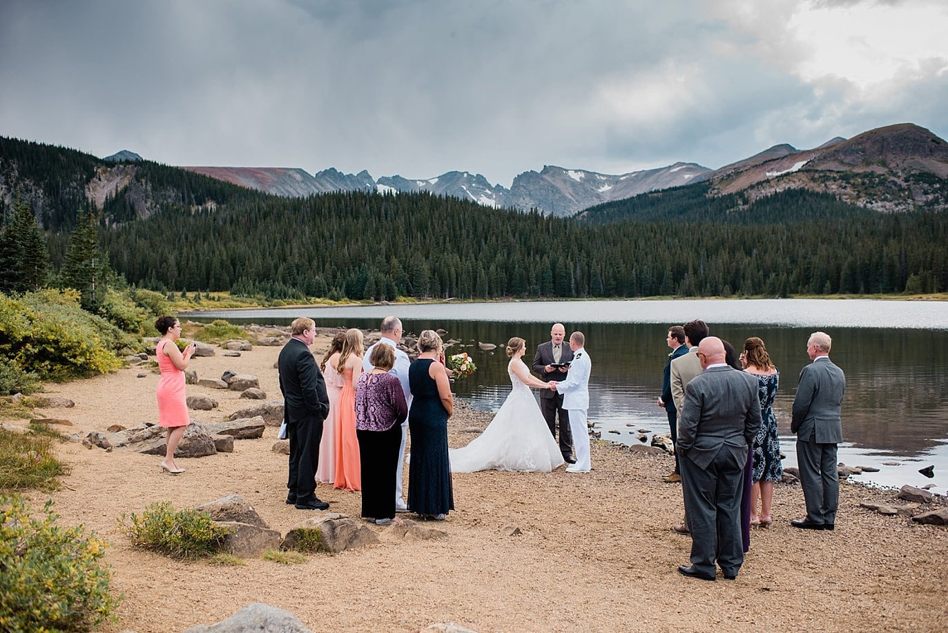 Lakeside elopement at Long Lake Colorado