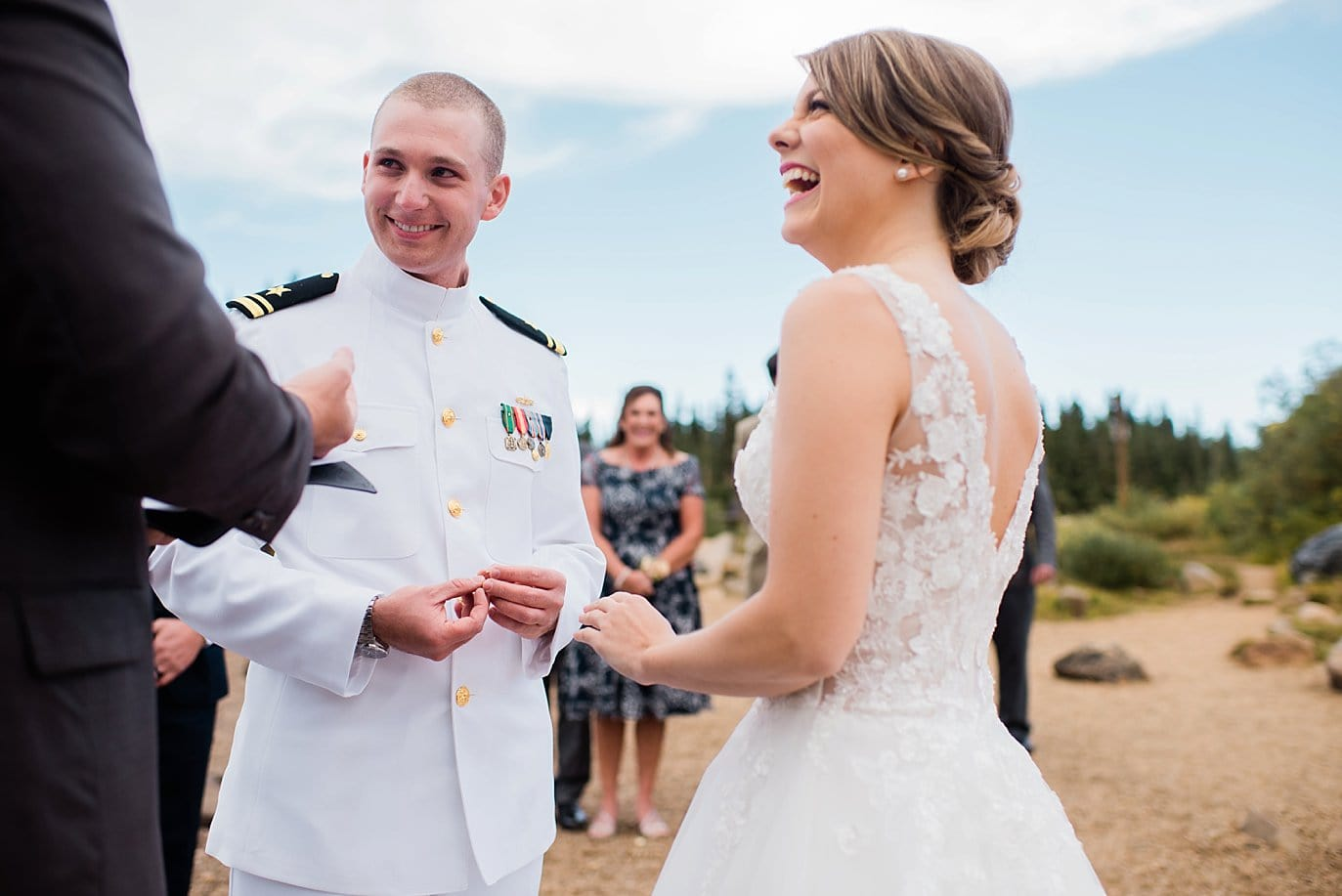 marine groom eloping in Colorado during fall