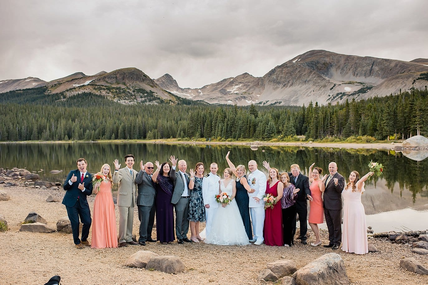 Intimate Long Lake Colorado Wedding guests