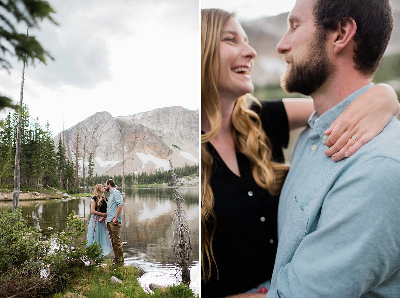 Medicine Bow Mirror Lake Engagement photo