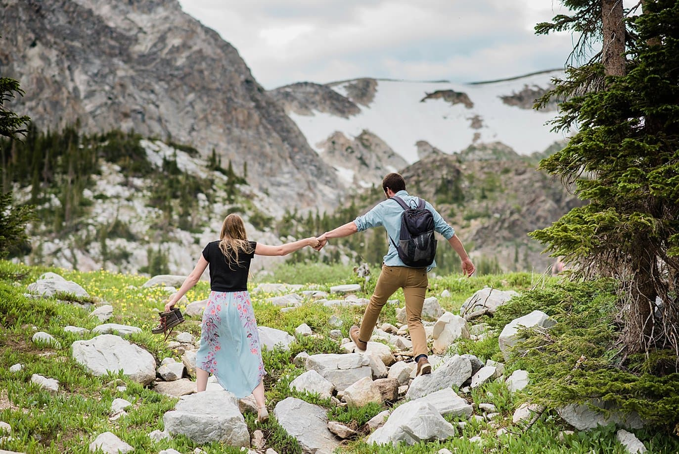 adventure wyoming wedding photo