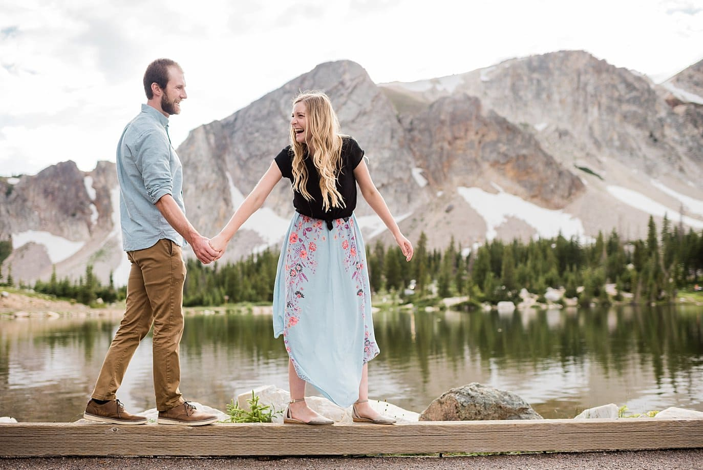 summer wyoming wedding photo