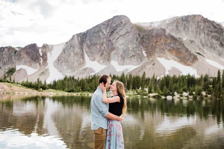 Medicine Bow Engagement | Monica and Tom | Mirror Lake Engagement