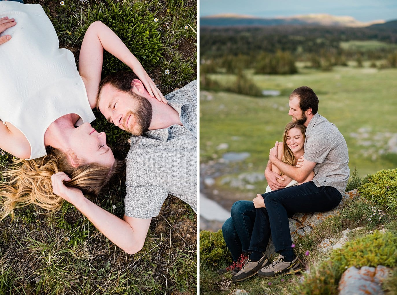 Outdoor Wyoming engagement photo