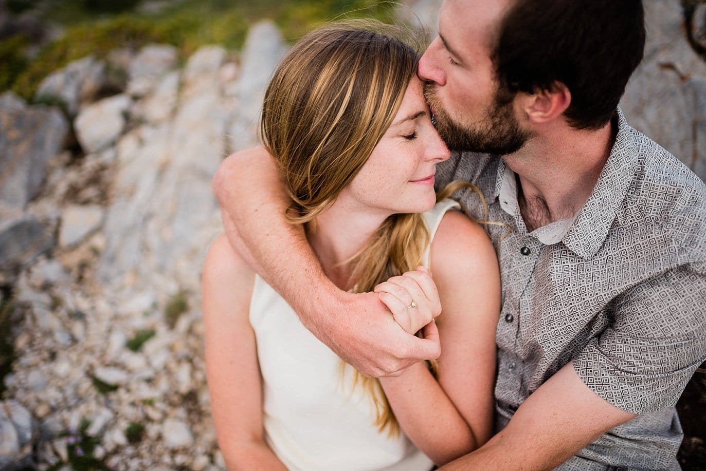 intimate engagement session cuddles photo