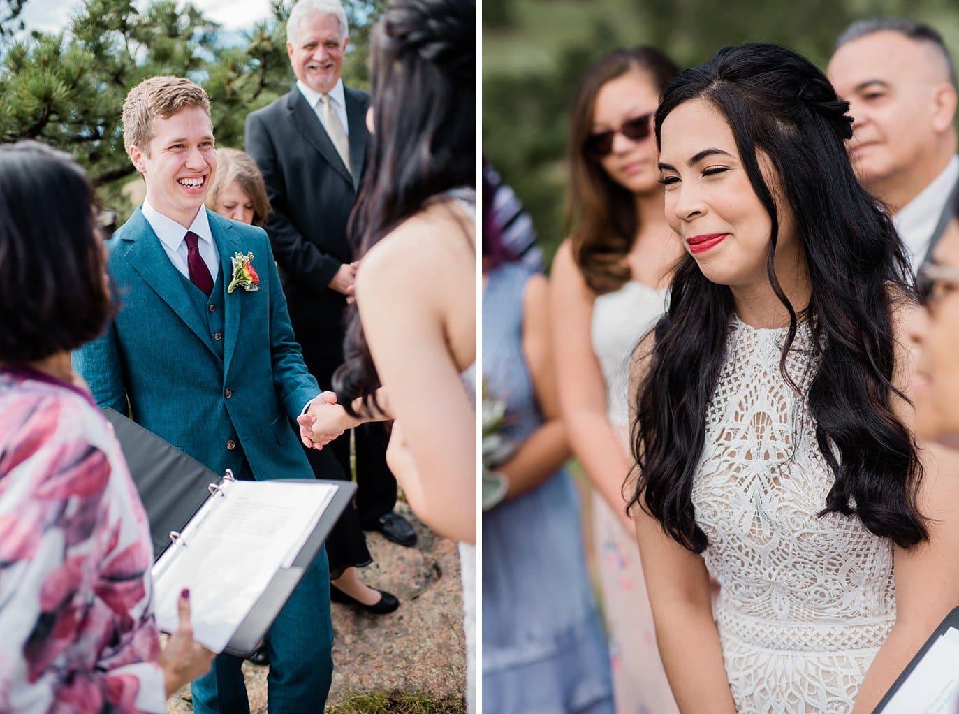 Wedding Ceremony Rocky Mountain National Park 3M Curve wedding by RMNP Wedding Photography Jennie Crate