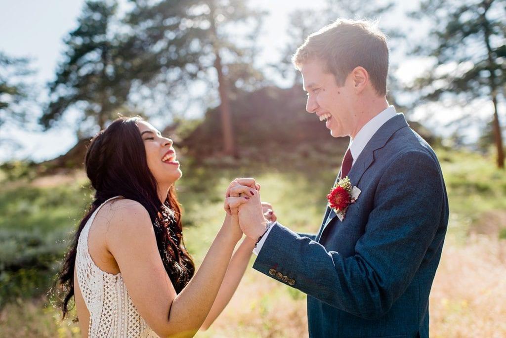 joyful 3M Curve Colorado wedding in Rocky Mountain National Park by Denver wedding photographer Jennie Crate