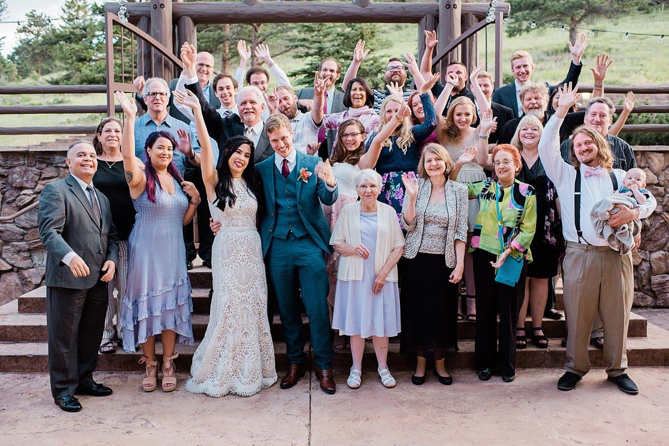 intimate Taharaa Mountain Lodge wedding at Rocky Mountain Estes Park wedding by Estes Park Wedding Photography Jennie Crate