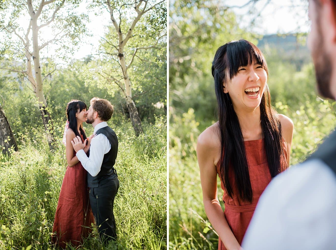 relaxed summer RMNP engagement photo